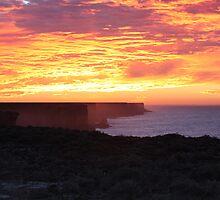 Bunda Cliffs Sunrise Nullarbor N.P by Paul Birch