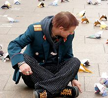 LEICESTER SQ: LONDON 4 Mr Orange Talks To Paper Pigeons by Tuartkatz