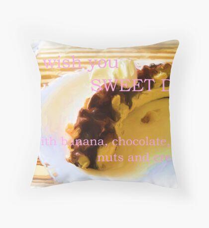 Dessert. Throw Pillow