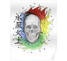 skull combined with the elements Poster