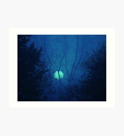 Blue Moon over Warsaw Art Print
