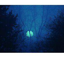 Blue Moon over Warsaw Photographic Print