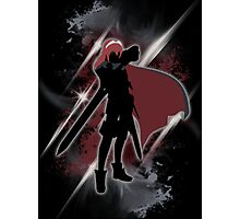 Super Smash Bros. Black/Red Lucina Silhouette Photographic Print