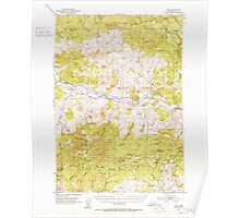 USGS Topo Map Oregon Post 282805 1951 62500 Poster