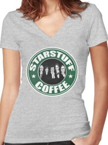 Starstuff Coffee Women's Fitted V-Neck T-Shirt