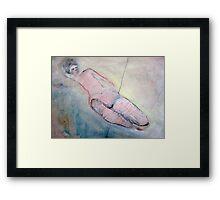 reclining nude Framed Print