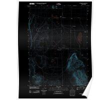 USGS Topo Map Oregon Fort Rock 20110819 TM Inverted Poster