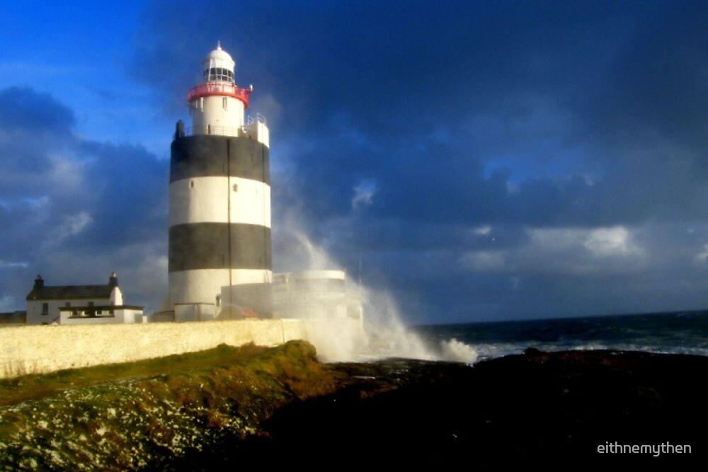 Storm Over Hook Lighthouse.... by eithnemythen