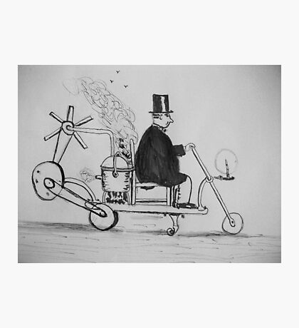 Edwardian Mobility Scooter Photographic Print