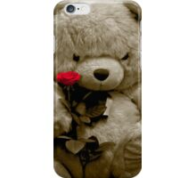 TEDDY BEAR PIANO ROSE FLOWER iPhone Case/Skin