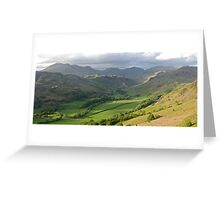 Scafell Massive, Eskdale side.  Greeting Card
