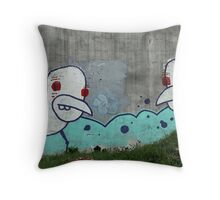 Two Birds On A Wall Throw Pillow