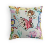 Falling into Fantasy Throw Pillow