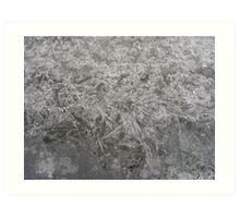 Frozen fountain Art Print