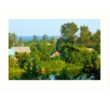 Rural landscape Art Print