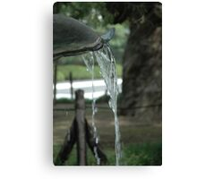 Temple fountain flow Canvas Print