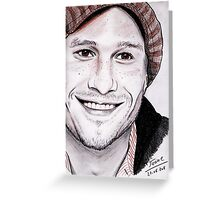 Heath LEDGER portrait Greeting Card