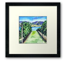 Between the Vines - Landscape Watercolour Framed Print