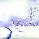 Crystal Mountain - Landscape Watercolour by Brazen Edwards