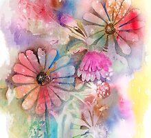 Tie Dye Daisies by arline wagner