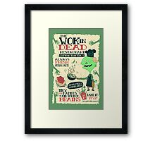 The Wok In Dead Framed Print