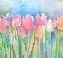 Tulips In A Row by arline wagner