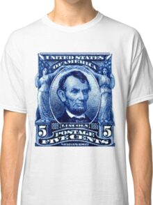 USA Abraham Lincoln Postage Stamp Classic T-Shirt