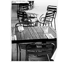 empty tables Poster