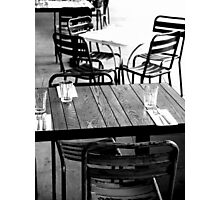 empty tables Photographic Print