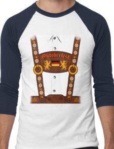 Oktoberfest Lederhosen Costume Men's Baseball ¾ T-Shirt