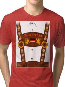 Oktoberfest Lederhosen Costume Tri-blend T-Shirt