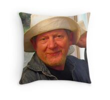 Howie Likes Mary's Hat! Throw Pillow