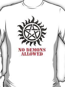 Supernatural No Demons Allowed [BLACK] T-Shirt