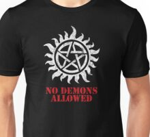 Supernatural No Demons Allowed [WHITE] Unisex T-Shirt