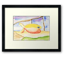 Hang on there Framed Print