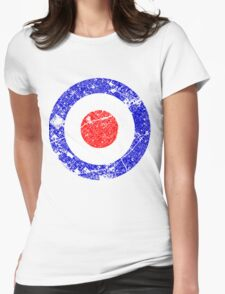Mod Target Vintage Distressed Womens Fitted T-Shirt