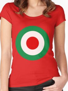 Target Italy Red White Green Women's Fitted Scoop T-Shirt