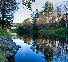 Autumn Ridge Reflection by Joe Jennelle