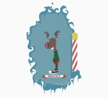 Rudolph w/ Frame - Sticker by Thomas Wells