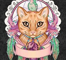Miss Ember the Feather Cat by Miss Cherry  Martini