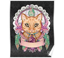 Miss Ember the Feather Cat Poster