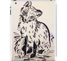 Black and White Fox iPad Case/Skin