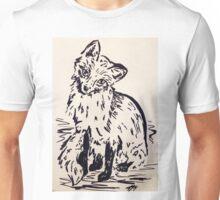 Black and White Fox Unisex T-Shirt
