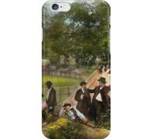 Civil War - Gettysburg camp of Captain Huft 1865 iPhone Case/Skin