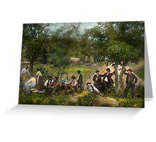 Civil War - Gettysburg camp of Captain Huft 1865 Greeting Card