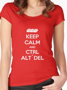 Keep Calm - Ctrl + Alt + Del Women's Fitted Scoop T-Shirt