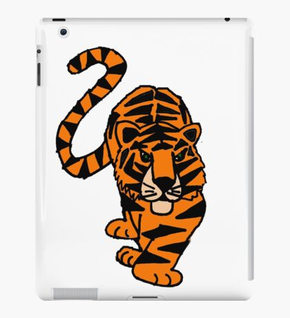 Fun Prowling Tiger Cat Original Art iPad Case/Skin