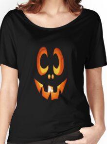 Vector Image of Friendly Halloween Pumpkin Women's Relaxed Fit T-Shirt
