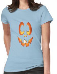 Vector Image of Friendly Halloween Pumpkin Womens Fitted T-Shirt