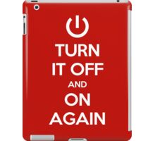 Keep Calm - Turn It Off and On Again iPad Case/Skin